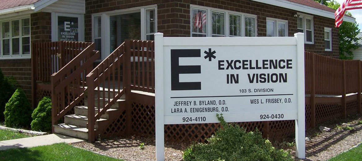 The front sign of Excellence in Vision